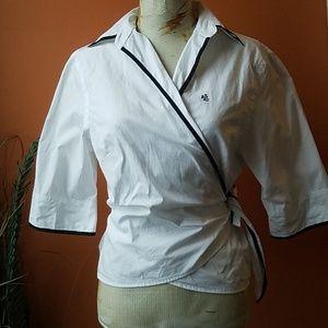 Lauren Wrap 100% Cotton Crop Shirt